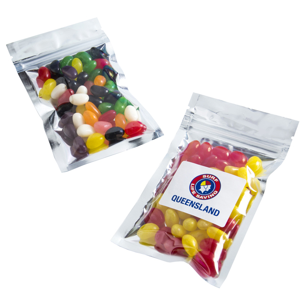 Jelly Beans - Silver Zip Lock Bag