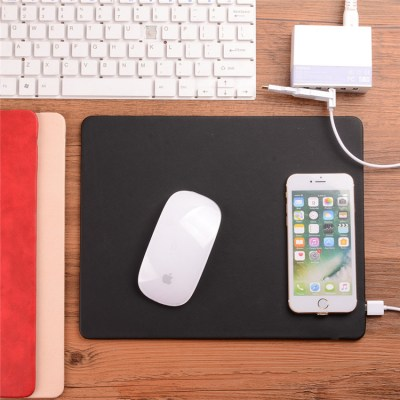 Custom-oem-leather-mouse-pad-wireless-charger