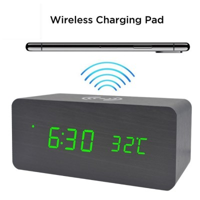LED CLOCK  - Wireless Charger
