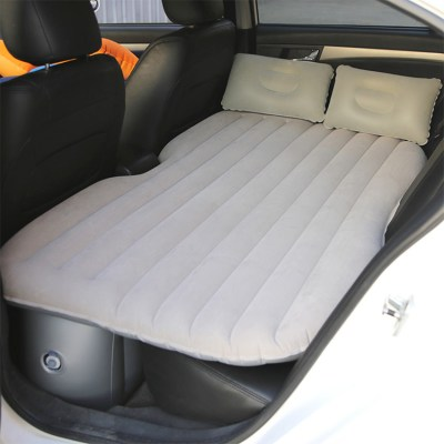 Inflatable-Car-Bed-in-Grey-Color-Flocking